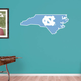 NCAA North Carolina Tar Heels 2016 State of North Carolina RealBig Logo Wall Decal