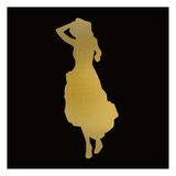 Fashion Silhouette 4 Posters by Kimberly Allen