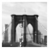 Brooklyn Hearts BW Print by Tracey Telik