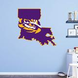 NCAA LSU Tigers 2016 State of Louisiana RealBig Logo Wall Decal