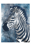 Grey Blue Zebra Prints by OnRei OnRei