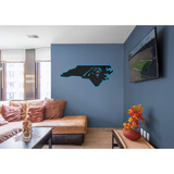 NFL Carolina Panthers 2016 State of North Carolina RealBig Logo Wall Decal