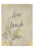 Live Laugh Love Prints by Kimberly Allen