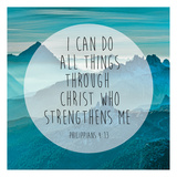Philippians 4-13 Poster af Victoria Brown