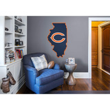 NFL Chicago Bears 2016 State of Illinois RealBig Logo Wall Decal