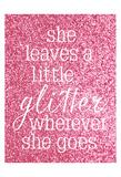 She Glitter Poster by Gigi Louise