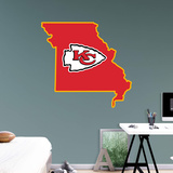 NFL Kansas City Chiefs 2016 State of Missouri RealBig Logo Wall Decal