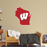 NCAA Wisconsin Badgers 2016 State of Wisconsin RealBig Logo Wall Decal