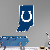 NFL Indianapolis Colts 2016 State of Indiana RealBig Logo Wall Decal