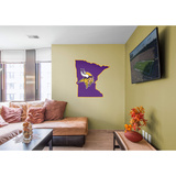 NFL Minnesota Vikings 2016 State of Minnesota RealBig Logo Wall Decal