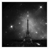 Eiffel Bw Posters by Tracey Telik