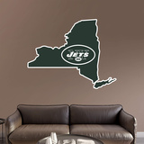 NFL New York Jets 2016 State of New York RealBig Logo Wall Decal