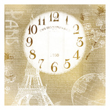 Paris Time Gold Poster by Kimberly Allen