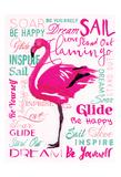 Wordy Flamingo Prints by OnRei OnRei
