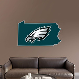 NFL Philadelphia Eagles 2016 State of Pennsylvania RealBig Logo Wall Decal
