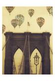 Bridge Balloons Vert Prints by Ashley Davis