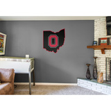 NCAA Ohio State Buckeyes 2016 State of Ohio RealBig Logo Wall Decal