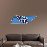 NFL Tennessee Titans 2016 State of Tennessee RealBig Logo Wall Decal