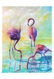 Flamingo Family 1 Prints by Lena Navarro