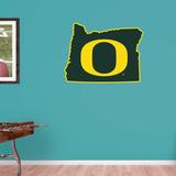 NCAA Oregon Ducks 2016 State of Oregon RealBig Logo Wallstickers