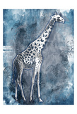 Grey Blue Giraffe Prints by OnRei OnRei