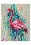 Flamingo Pose 1 Posters by Lena Navarro
