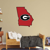 NCAA Georgia Bulldogs 2016 State of Georgia RealBig Logo Wall Decal