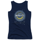 Juniors Tank Top: Moon Pie- Snowflake Logo Button T-shirts