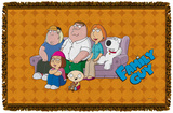 Family Guy - Family Portrait Woven Throw Throw Blanket