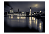 London Duotone Parliament Prints by Vladimir Kostka