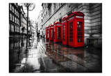 London Phone Booths Prints by Vladimir Kostka