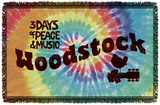 Woodstock - Tie Dye Woven Throw Throw Blanket