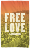 Woodstock - Free Love Beach Towel Beach Towel