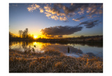 Sunset By The River 1 Prints by Vladimir Kostka