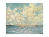 A French Barque in Falmouth Bay, 1902 Giclee Print by Henry Scott Tuke