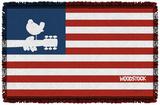 Woodstock - Flag Woven Throw Throw Blanket