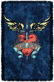 Bon Jovi - Weathered Denim Woven Throw Throw Blanket