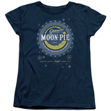 Womans: Moon Pie- Snowflake Logo Button T-shirts