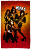 KISS - Fire Pose Beach Towel Beach Towel