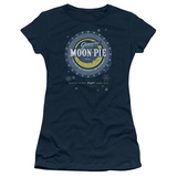 Juniors: Moon Pie- Snowflake Logo Button T-Shirt