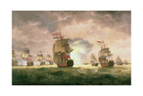 Rodney's Victory Off Cape St. Vincent Giclee Print by Thomas Luny