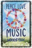 Woodstock - Open Love Woven Throw Throw Blanket
