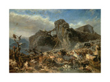 Animals Leaving the Ark, Mount Ararat Giclee Print by Filippo Palizzi