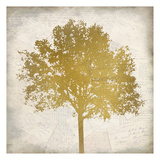 Tree Silhouette Gold 3 Prints by Kimberly Allen