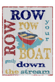 Row Row Posters by Taylor Greene