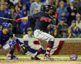 Francisco Lindor RBI Single Game 4 of the 2016 World Series Photo
