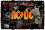 AC/DC - Album Collage Woven Throw Throw Blanket