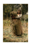 The Peasant Girl (The Faggot Collector) 1880 Giclee Print by Arthur Melville