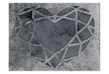 Transitional Geo Heart Print by Sheldon Lewis