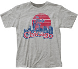Chicago The Windy City Skyline T-Shirt